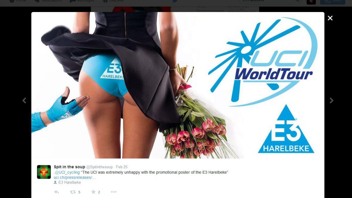 El polémico afiche sexista que sacudió al mundo del ciclismo