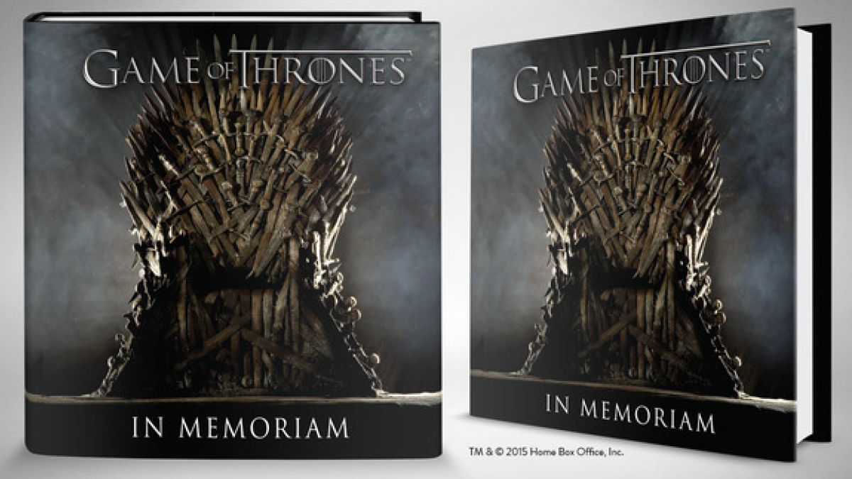 Imágenes del libro In Memorian de Game of Thrones