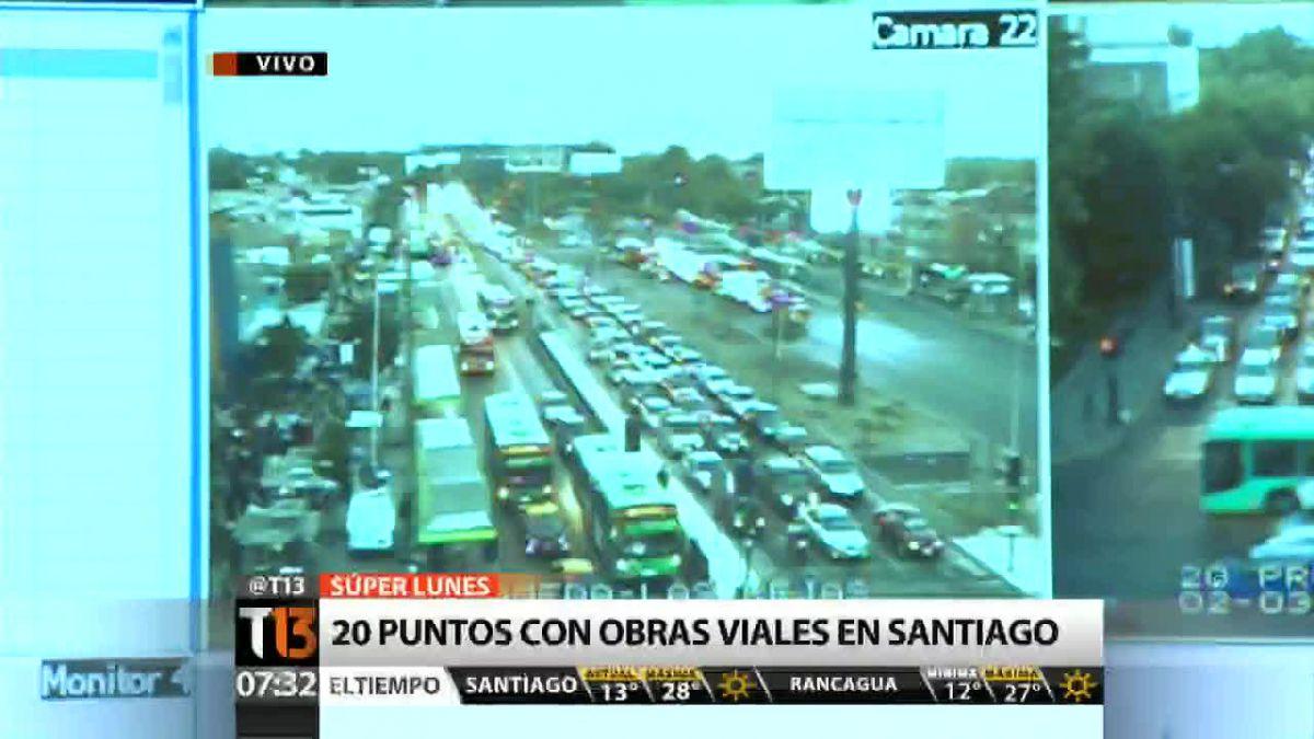 #AlertaT13: Así se vive el primer lunes de marzo en Santiago
