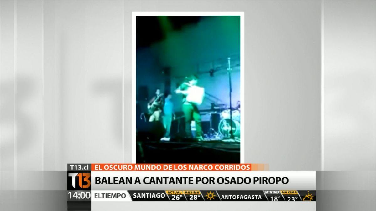 Cantante de narcocorridos es baleado en pleno escenario por piropear a una mujer