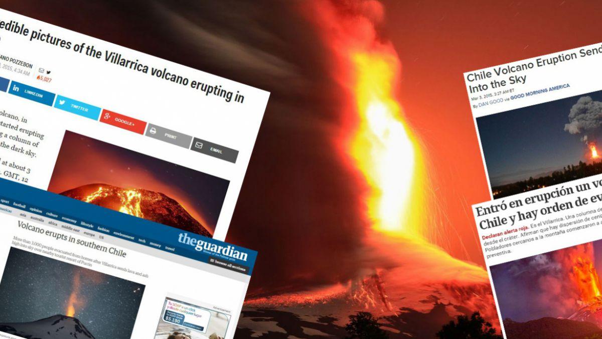 Erupción del Villarrica: Así fue informada por los medios internacionales
