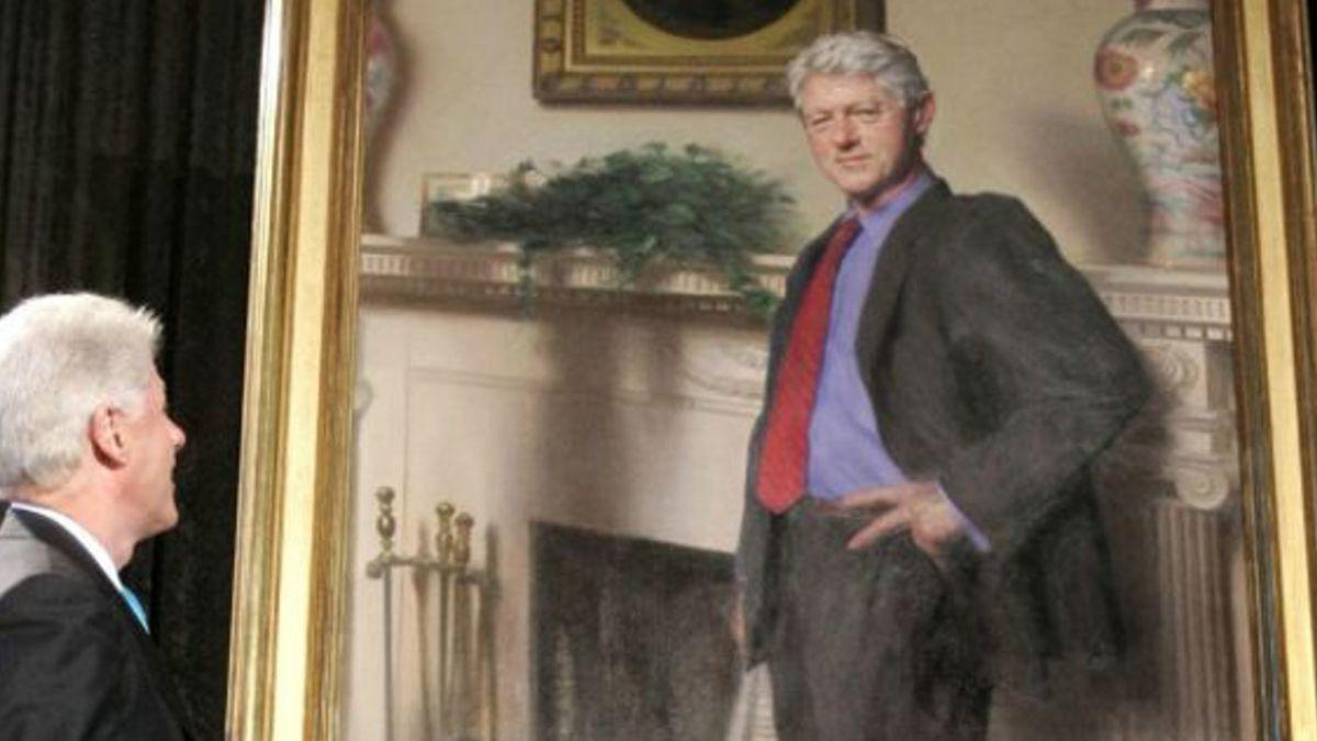 El guiño a Monica Lewinsky oculto en un cuadro de Bill Clinton