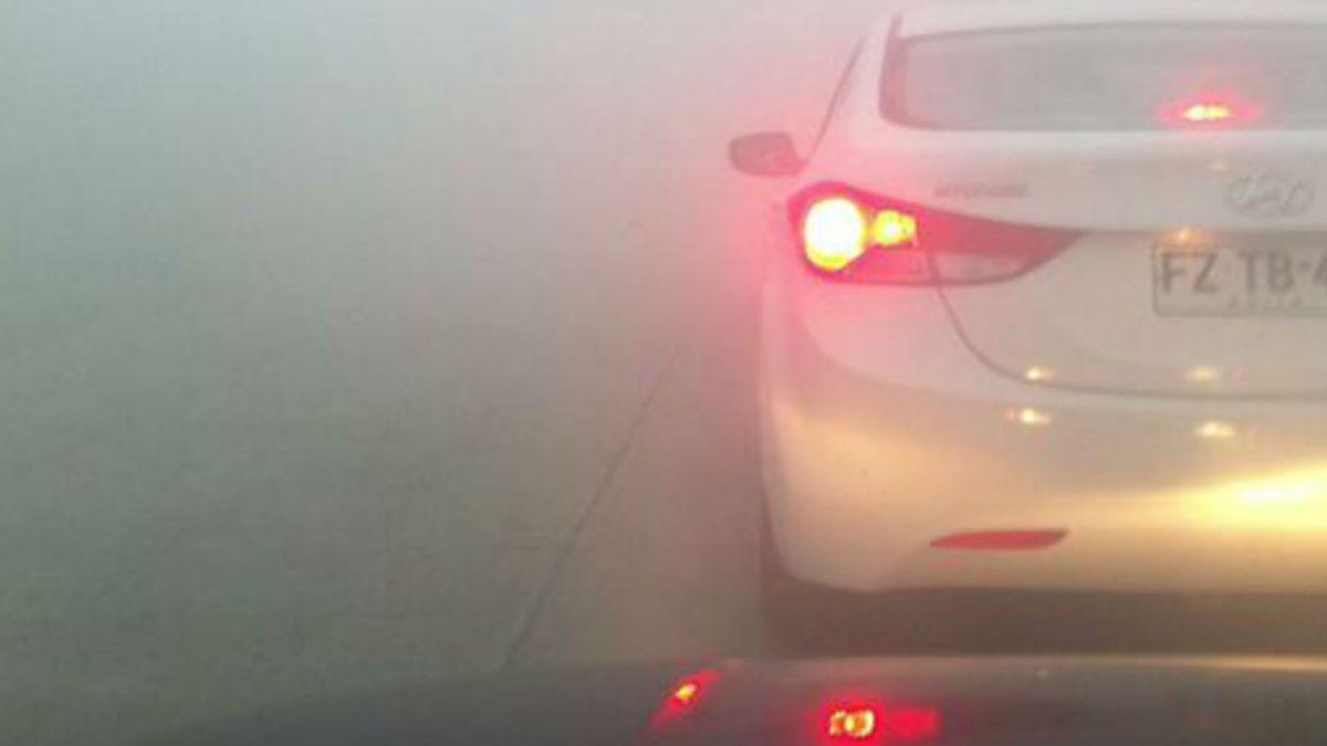 Espesa niebla genera congestión y cierre de vías en Puerto Montt