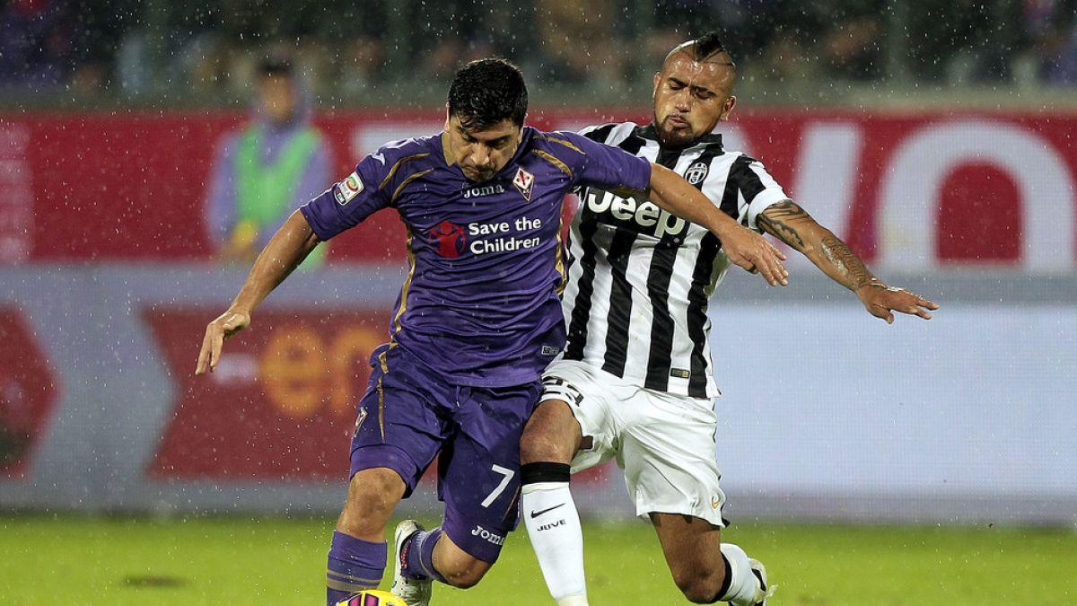 Duelo de chilenos: Juventus choca ante Fiorentina por Copa Italia