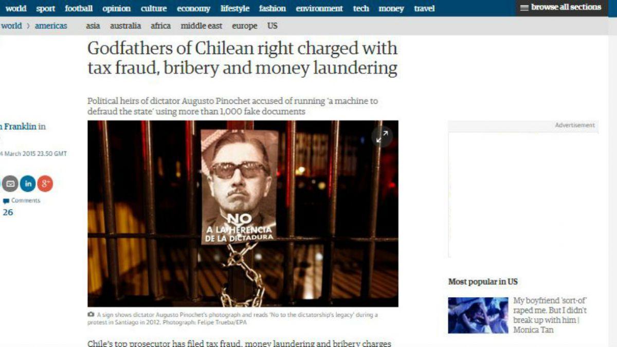 Caso Penta: The Guardian destaca formalización a padrinos de la derecha
