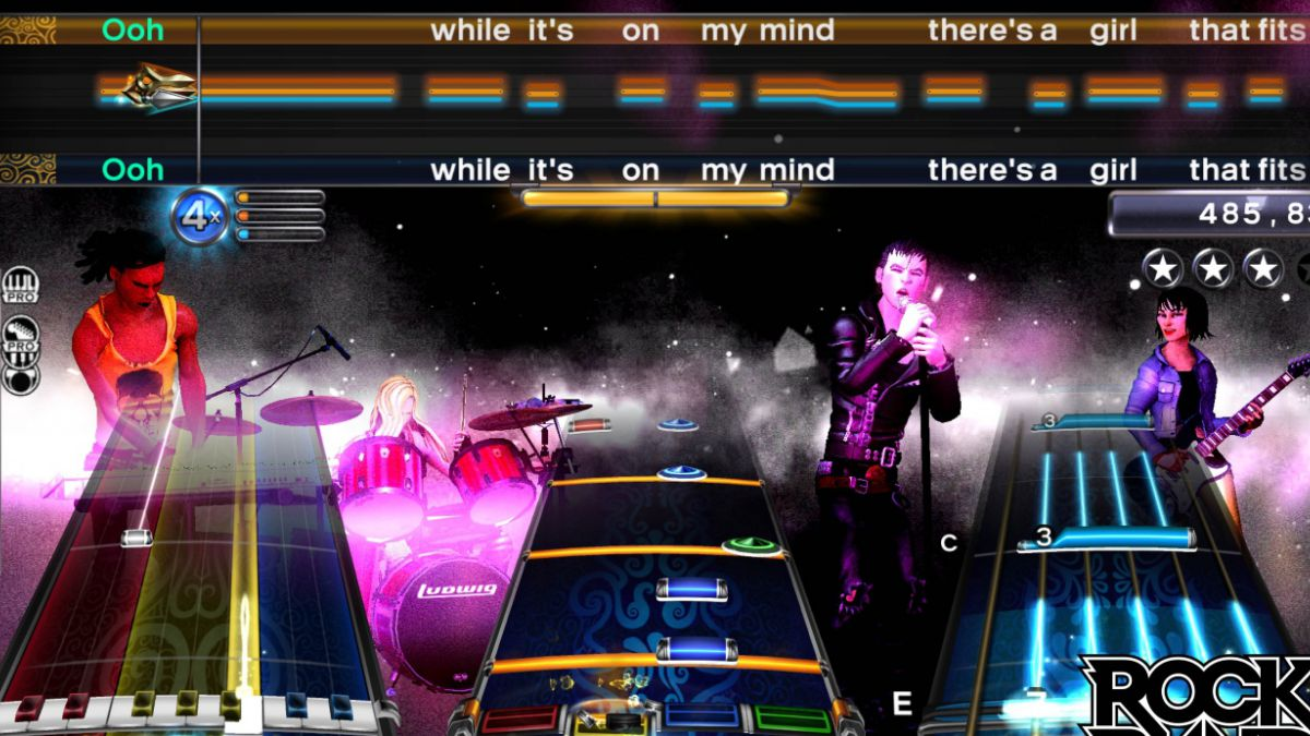 Popular Rock Band tendrá versión para Xbox One y PS4