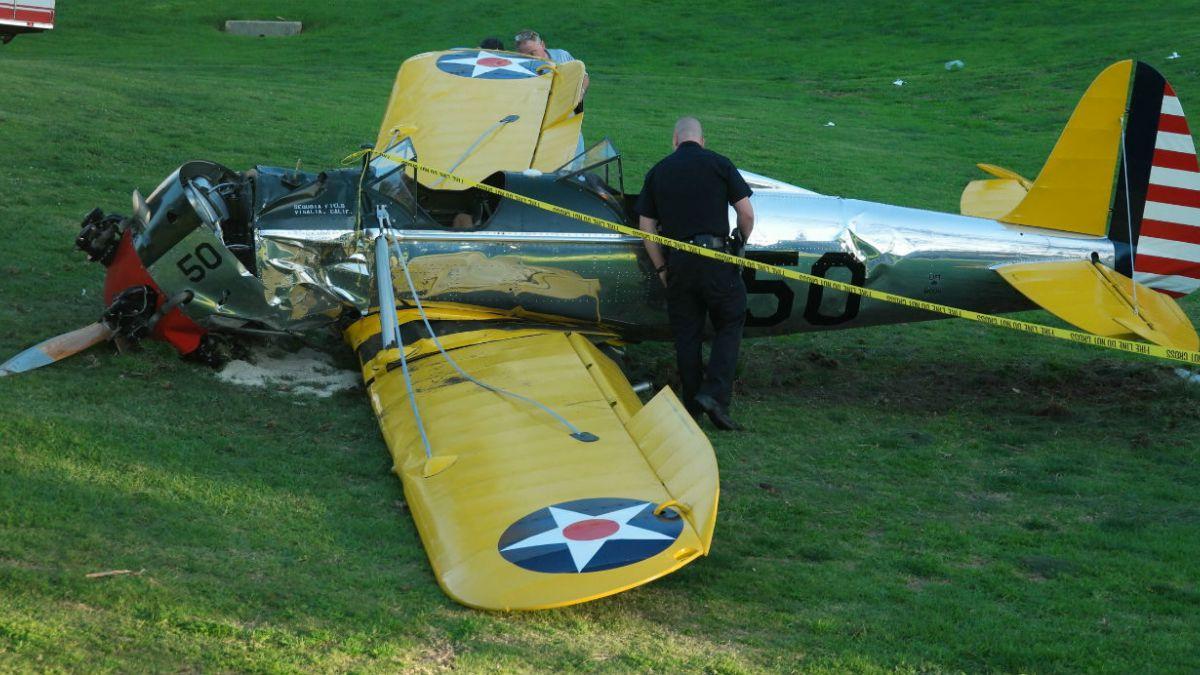 [FOTOS] Así quedó la avioneta estrellada donde viajaba Harrison Ford