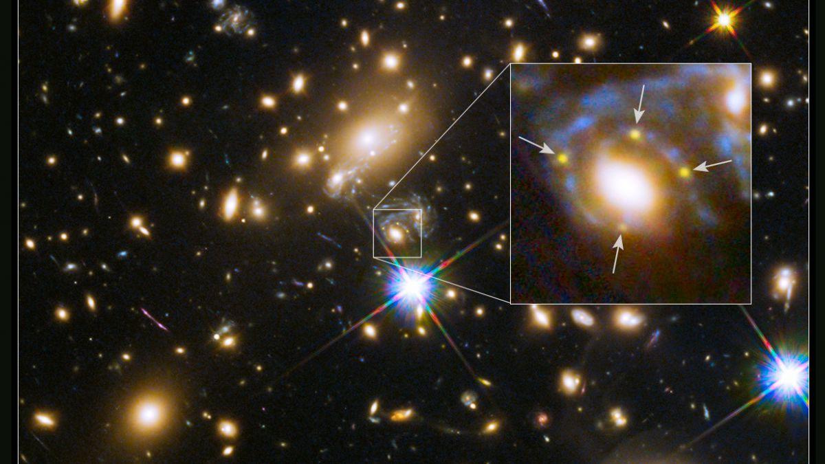 Cuatro imágenes de una supernova confirman teoría de Einstein