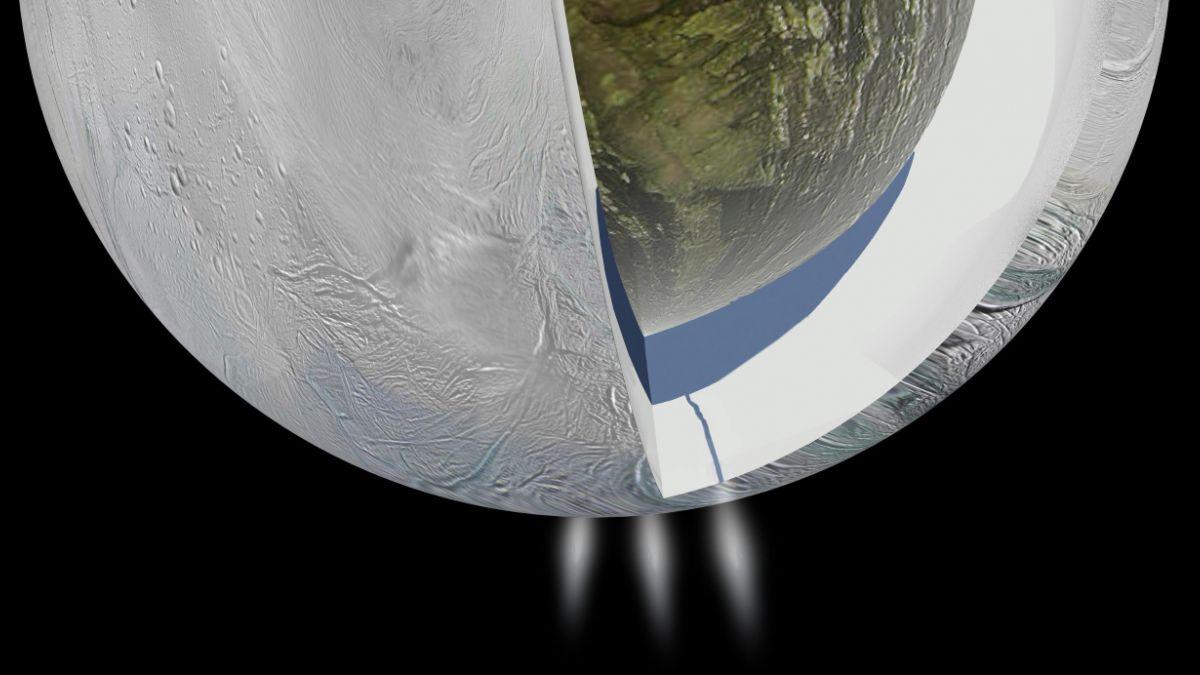Descubren agua termal en luna de Saturno