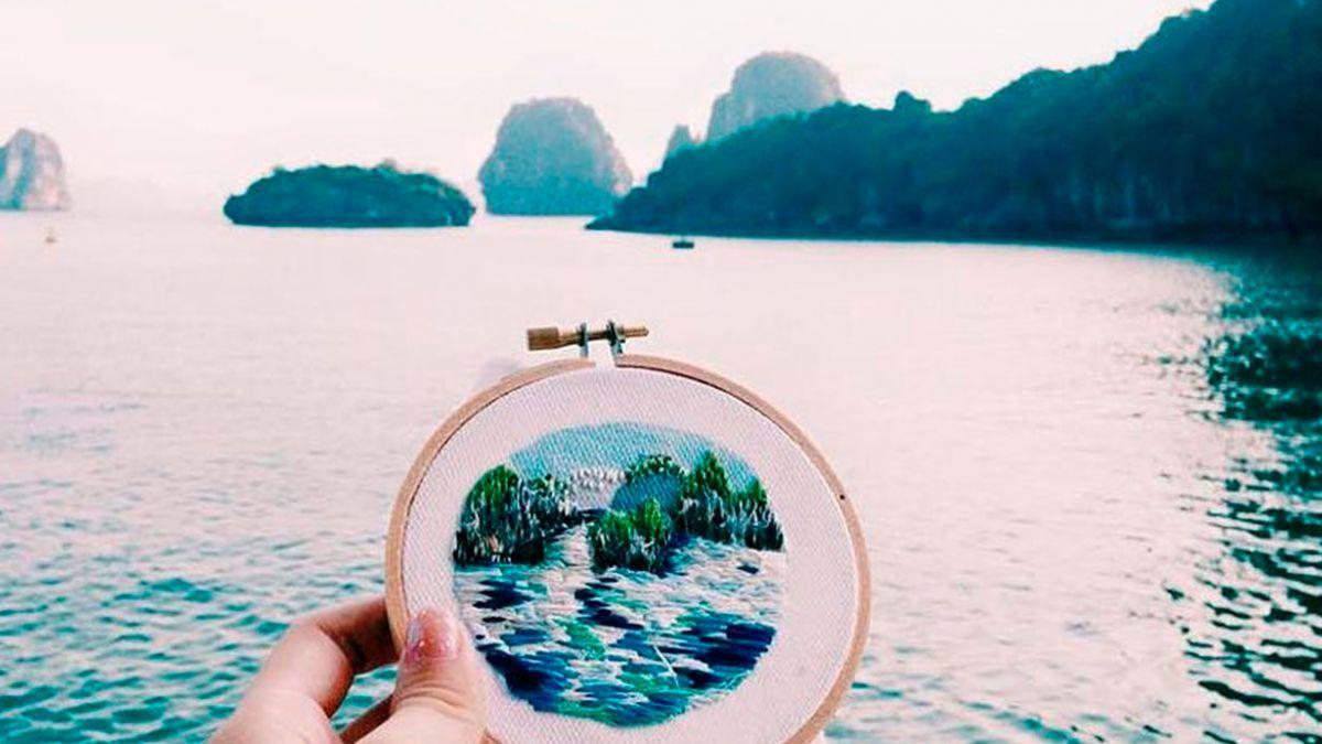 [FOTOS] La artista que borda fotos de paisajes alrededor del mundo