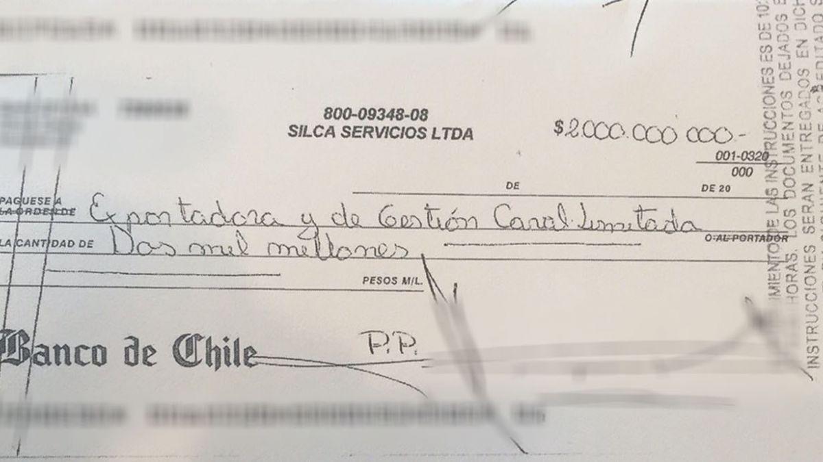Este es el cheque clave del caso Caval