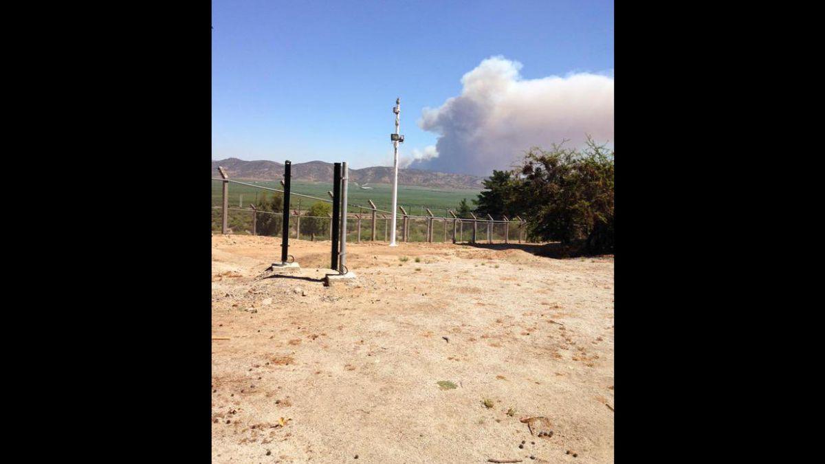 Declaran alerta roja para la comuna de San Pedro por incendio forestal