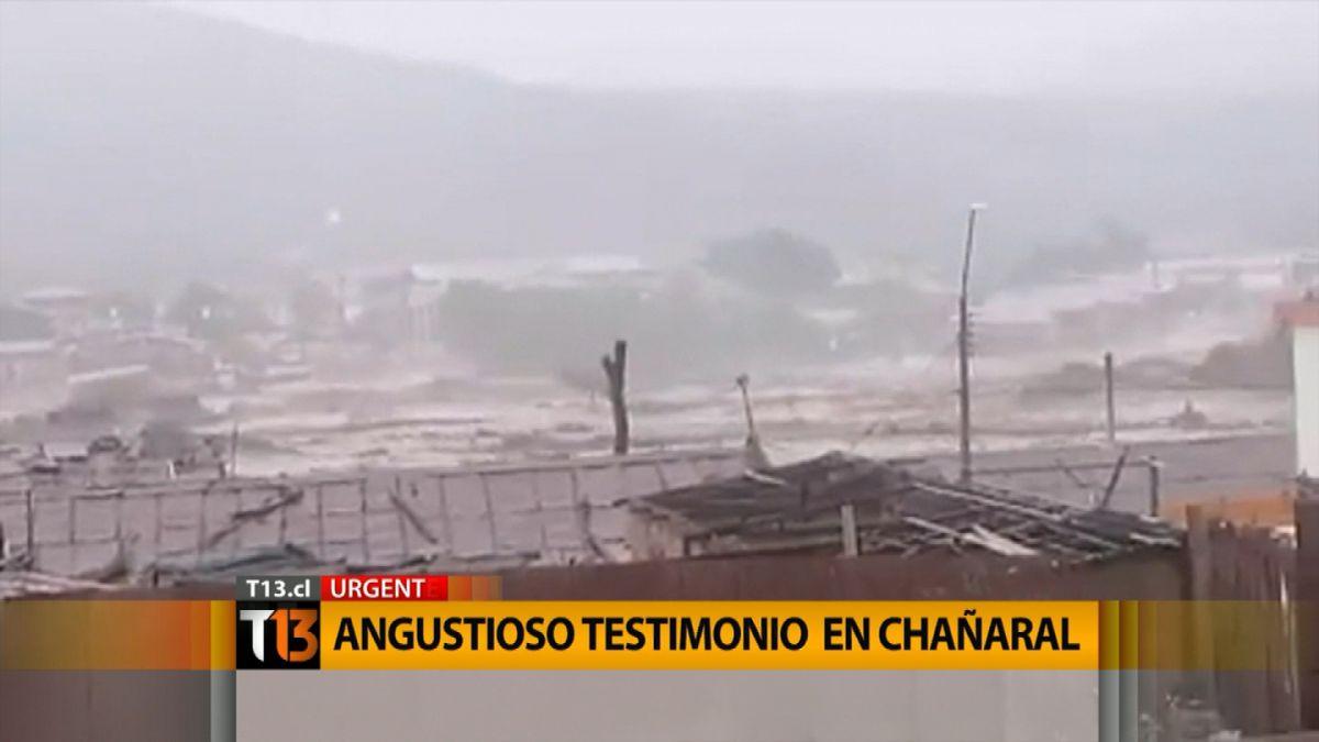 Chañaral: el relato del hombre que quedó atrapado en el techo de su trabajo y luego fue rescatado