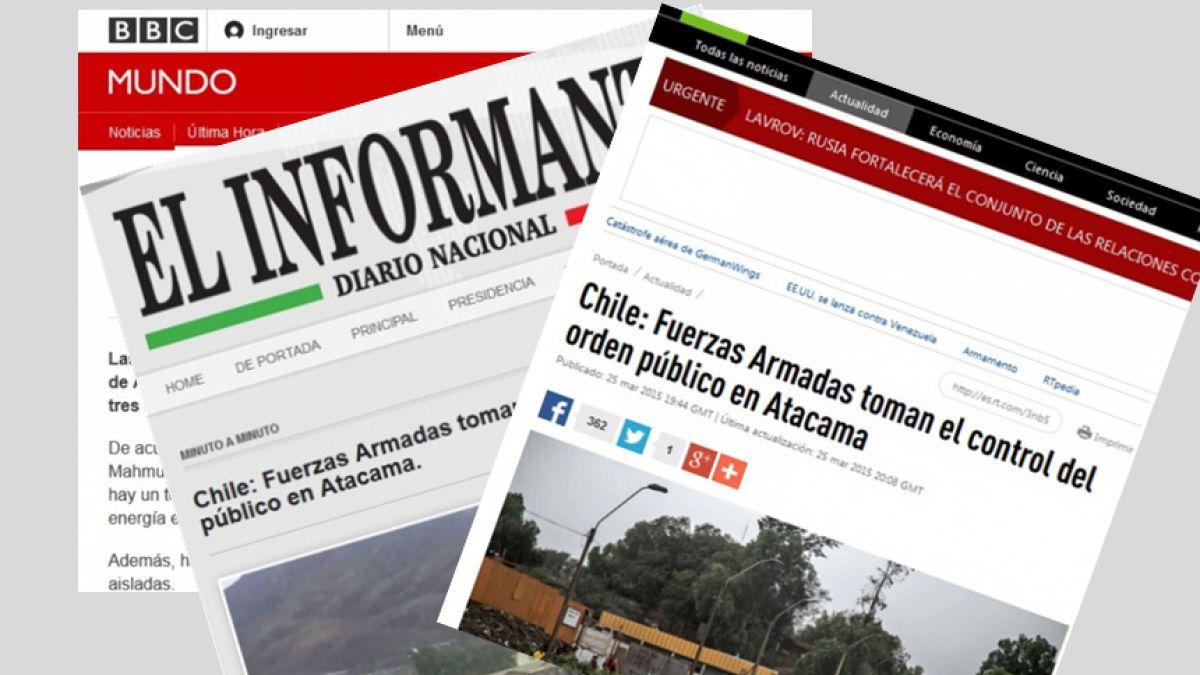 Prensa internacional reacciona frente a alud en el norte del país