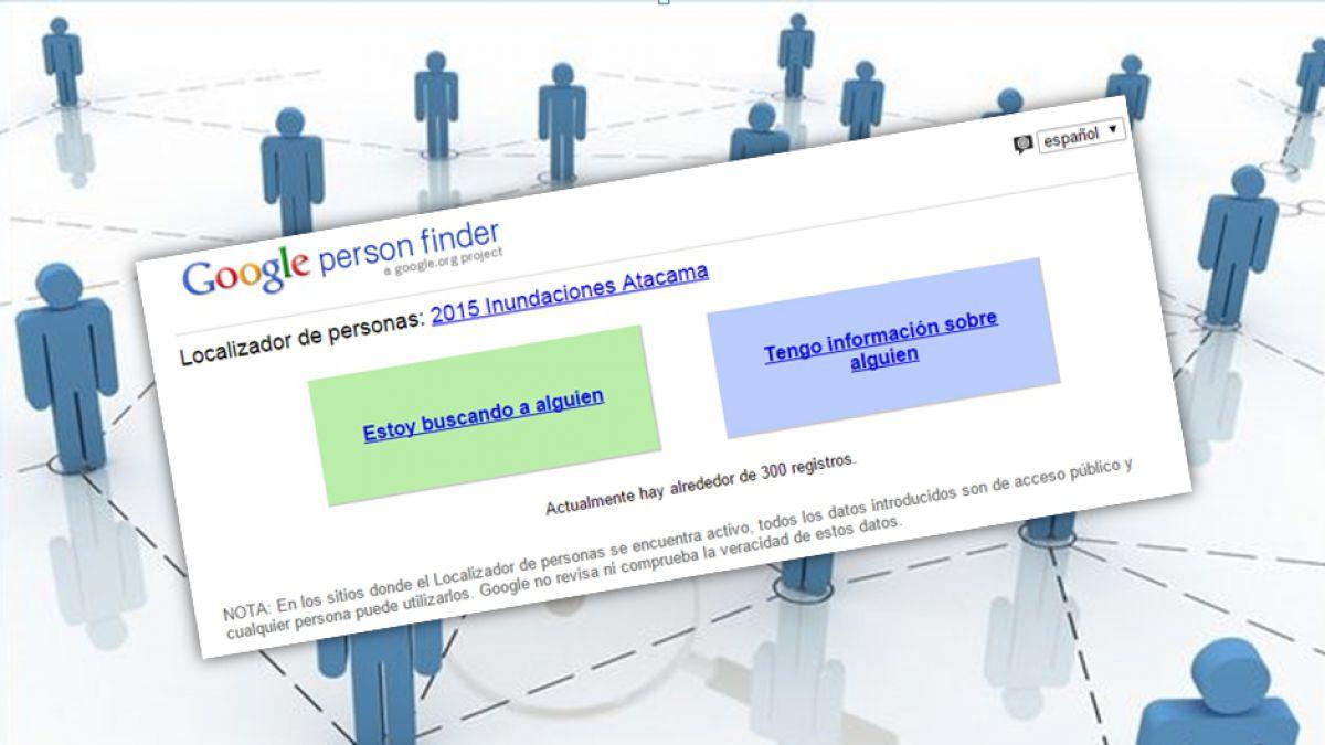 Google habilita sitio para buscar personas desaparecidas
