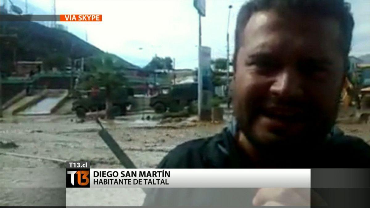 [VIDEO] Corresponsal ciudadano de Taltal registra el fuerte paso de alud