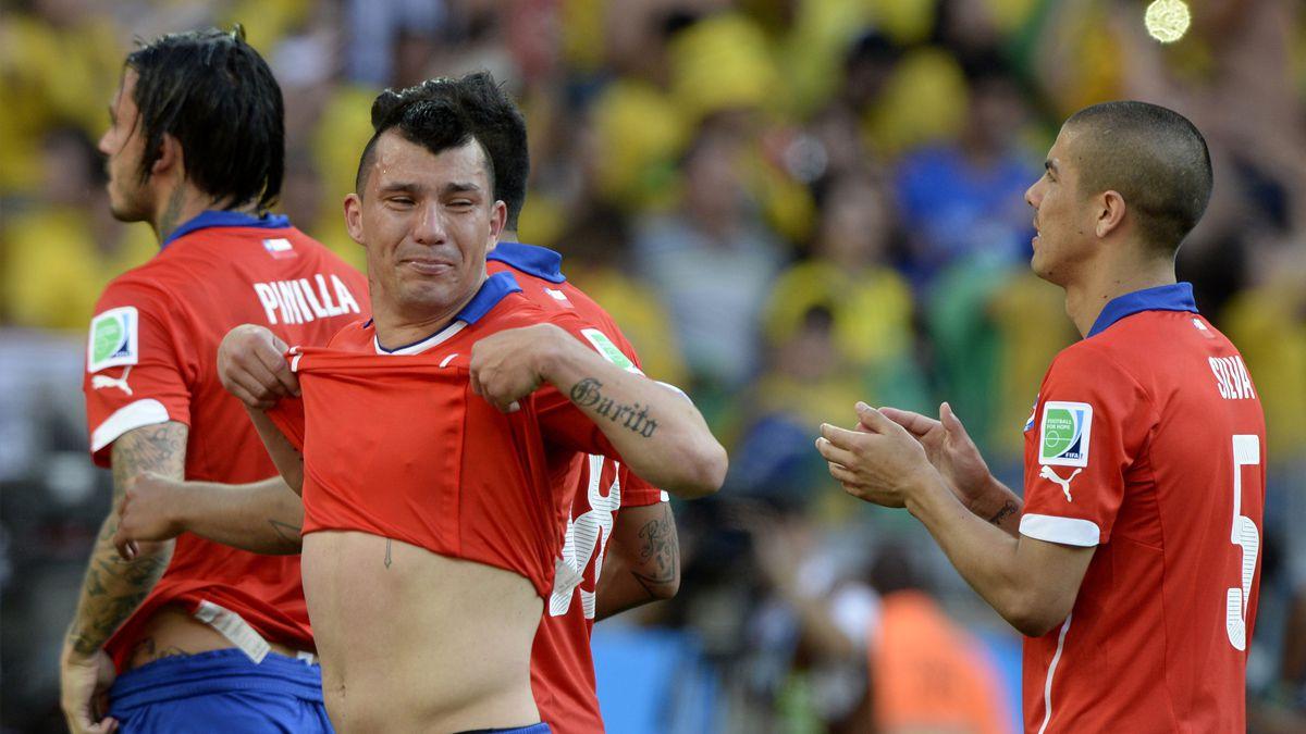 La arenga de Medel en la previa del duelo con Brasil