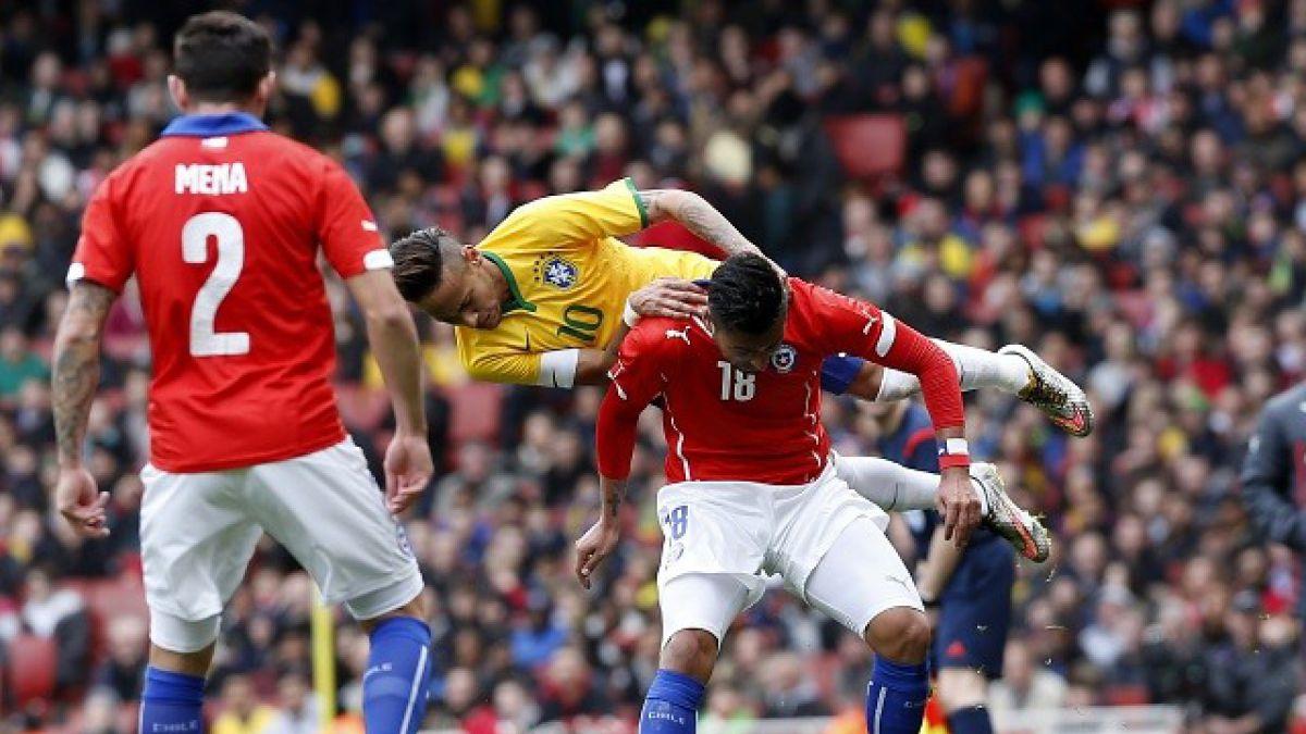 Prensa internacional califica de poco amistoso el duelo Chile vs. Brasil