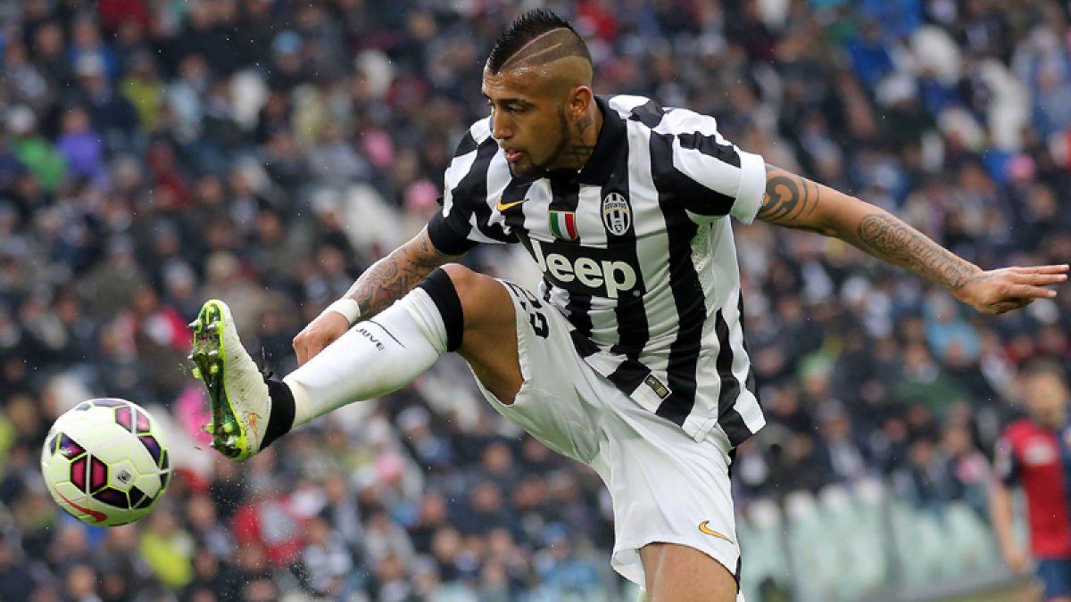 Arturo Vidal participó en cómoda victoria de Juventus