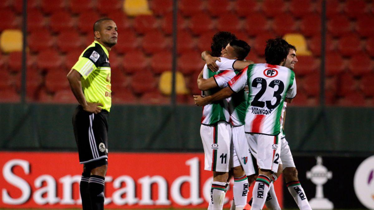 Palestino goleó a Zamora y sigue con vida en la Copa Libertadores