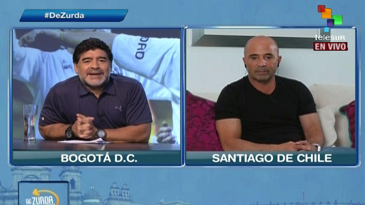 La entrevista de Diego Maradona a Jorge Sampaoli