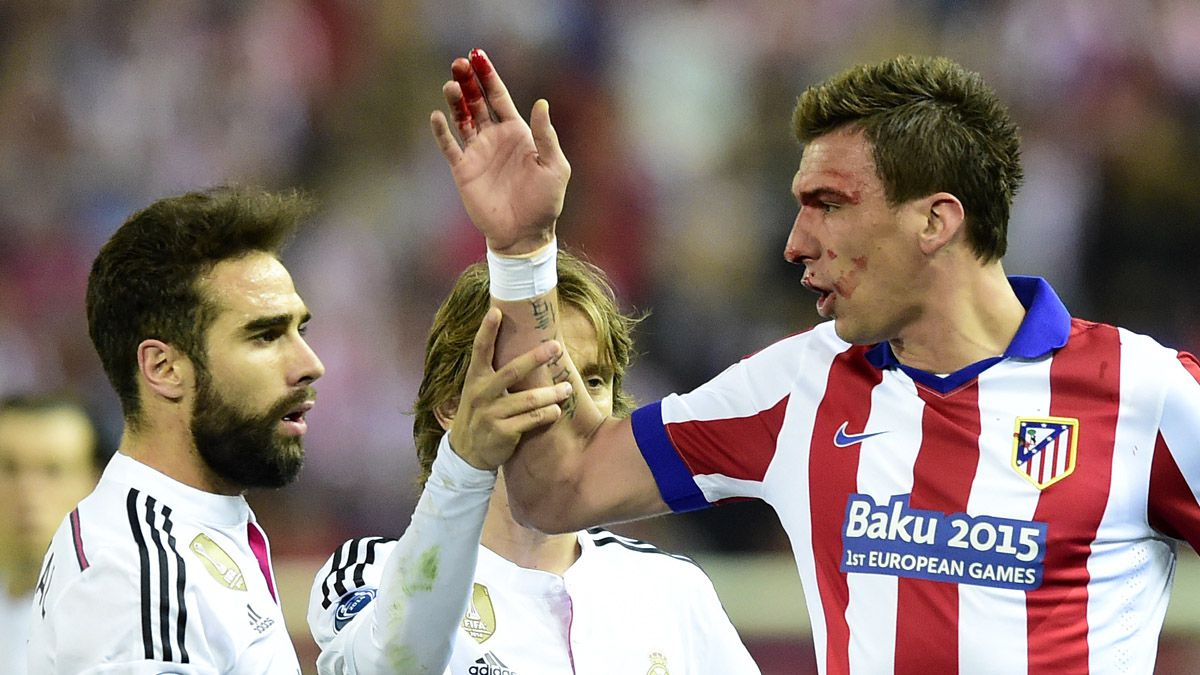 [VIDEO] Carvajal habría mordido a Mandzukic en choque por Champions League