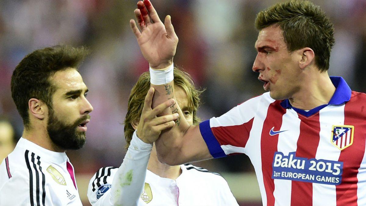 Carvajal y Mandzukic desmienten que hubiera mordisco en duelo por Champions League