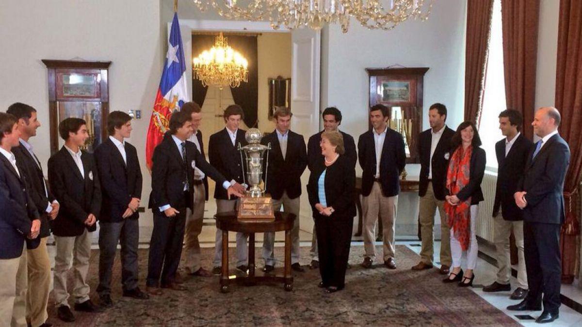 Presidenta Michelle Bachelet recibe a campeones mundiales de polo en La Moneda