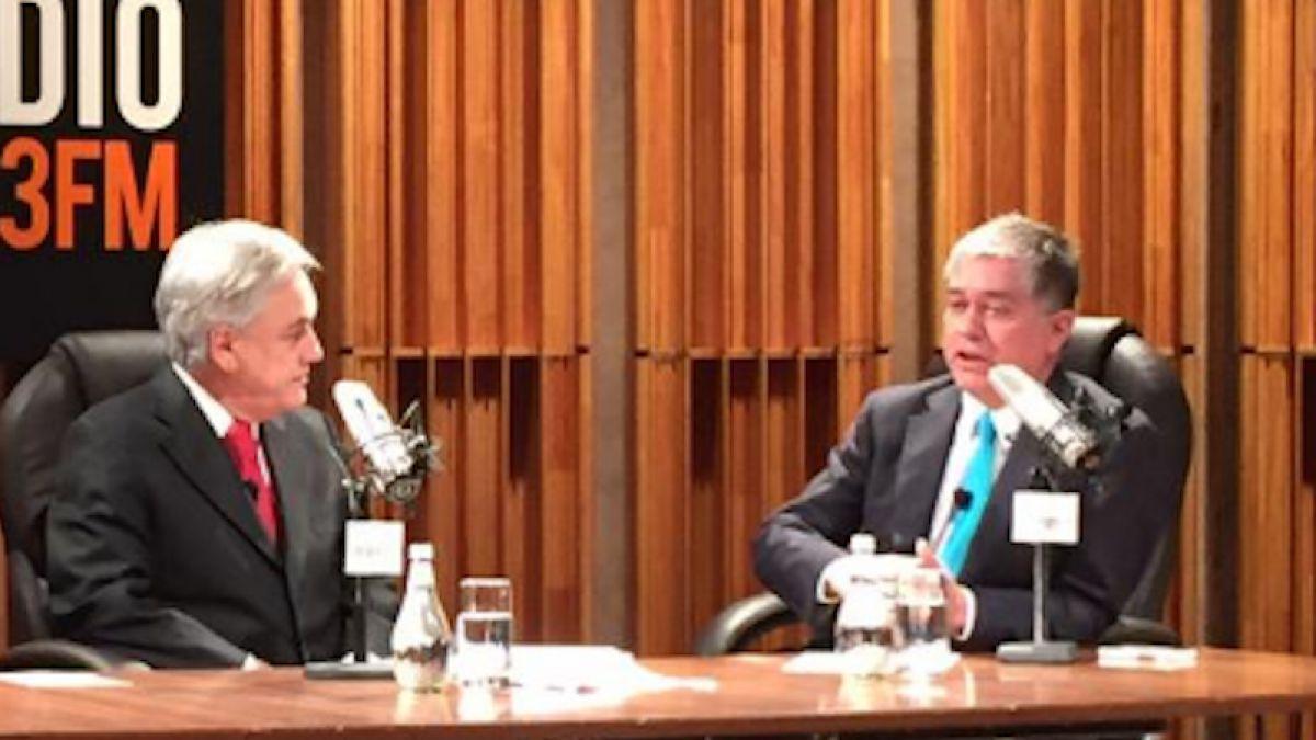 Piñera en Tele13 Radio: Me gustaría una Fiscalía que actuara con mayor objetividad