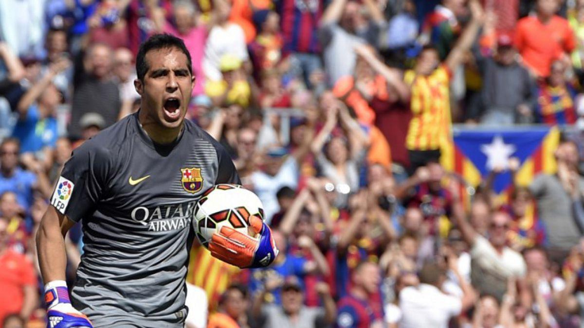 Claudio Bravo fue ovacionado por más de 90 mil personas en España