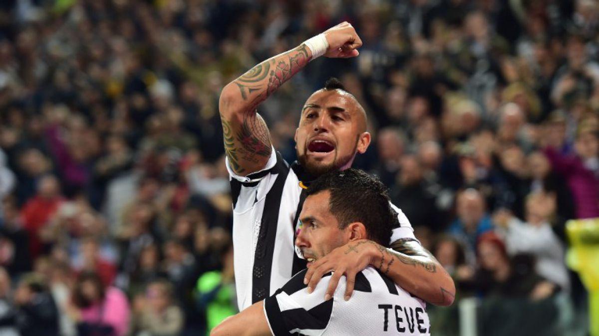 Juventus de Vidal ganó y quedó a seis puntos de ser campeón de la Serie A