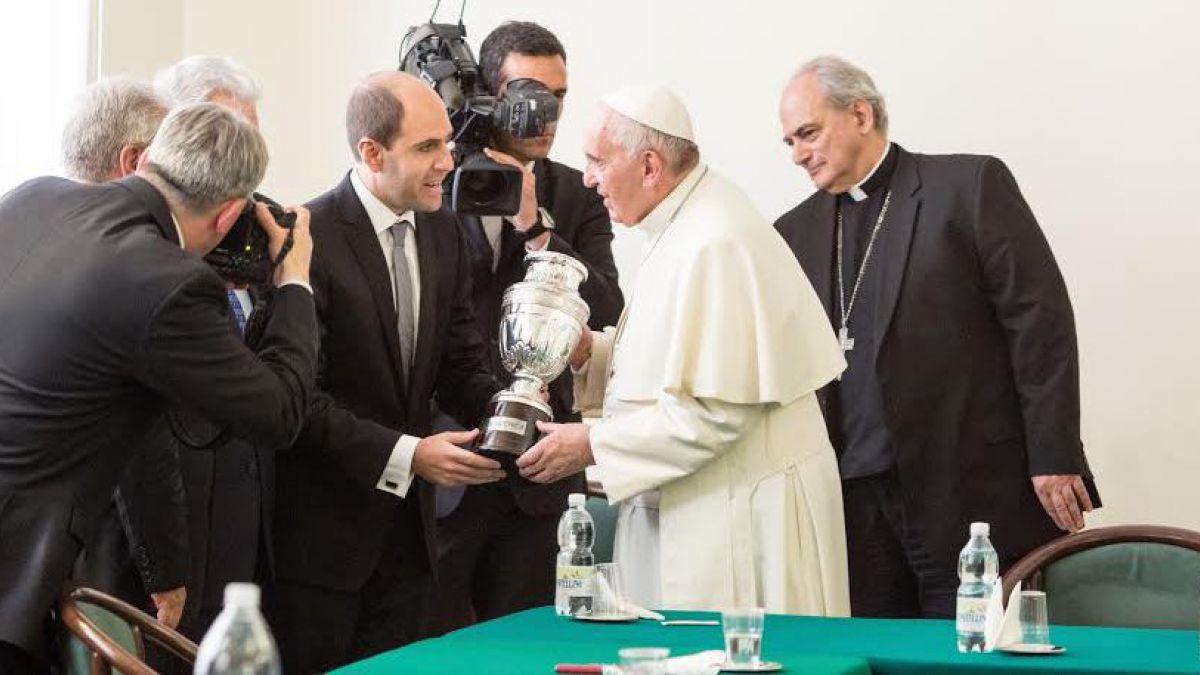Sergio Jadue se reunió con el Papa en El Vaticano