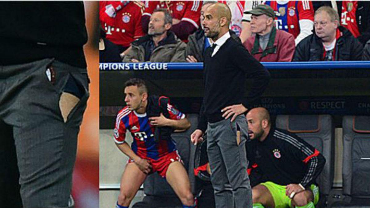 [FOTOS] El pantalón roto de Guardiola y otras prendas que expusieron el lado íntimo del deporte