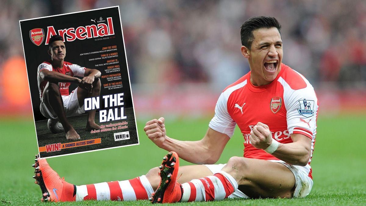 Alexis es portada de la revista del Arsenal