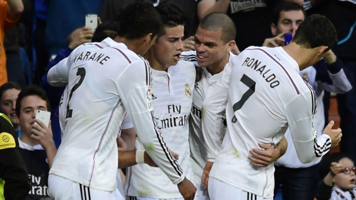 [VIDEO] El golazo de James Rodríguez en la victoria de Real Madrid sobre Almería