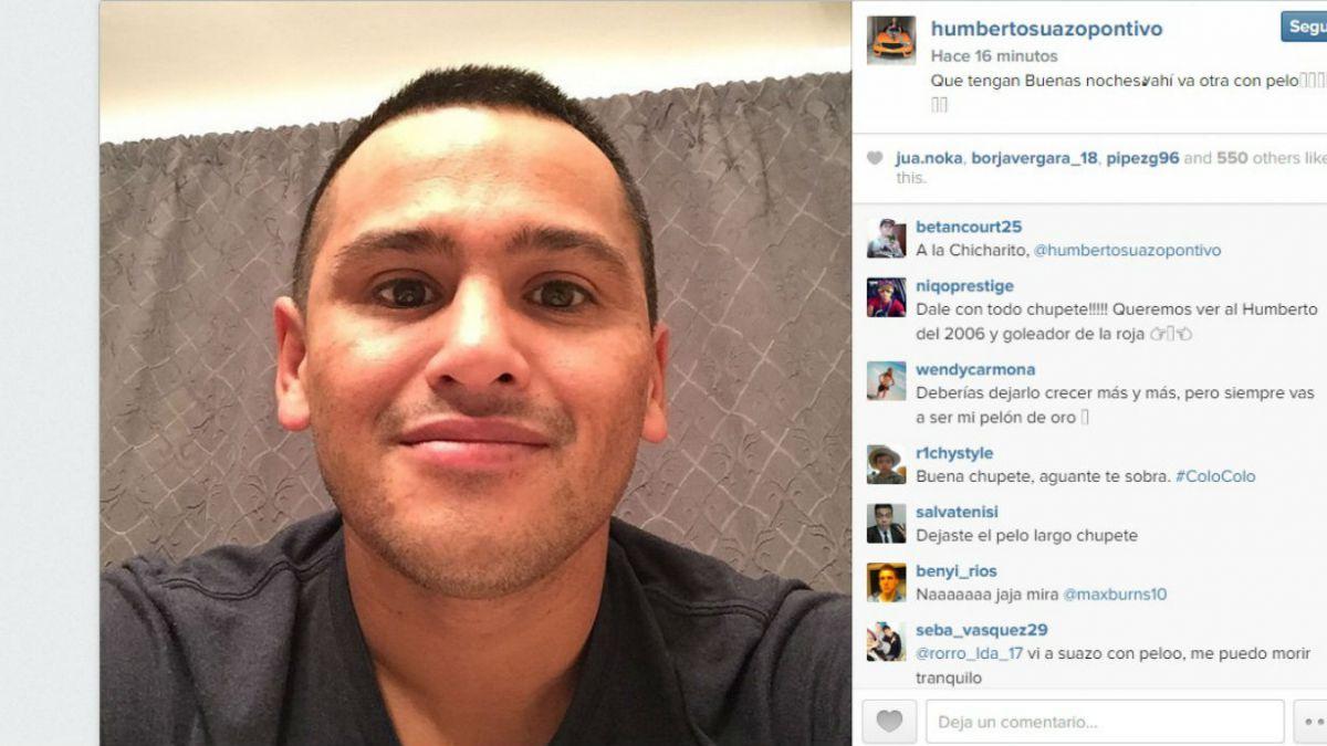 Humberto Chupete Suazo luce su nuevo look en Instagram