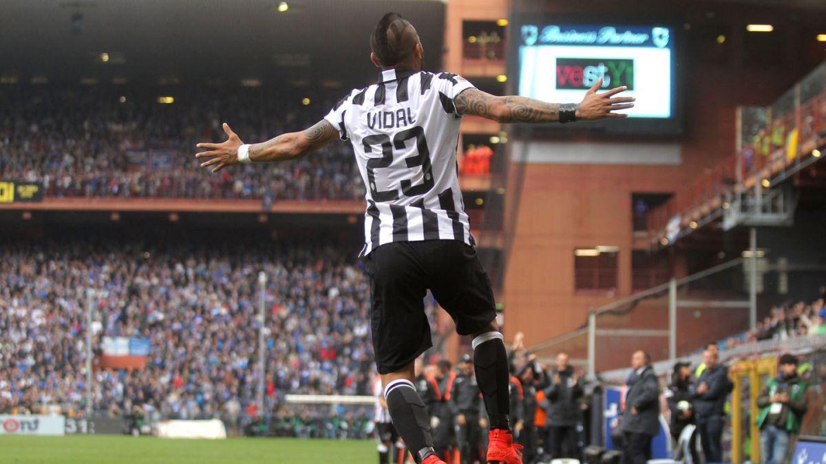 Con gol de Arturo Vidal Juventus se corona tetracampeón en Italia