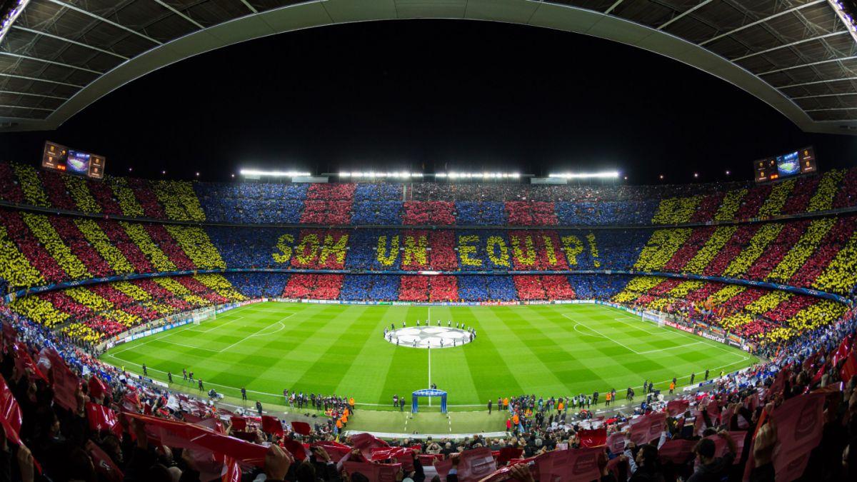 Barcelona prepara un mosaico en sus tribunas para duelo de Champions
