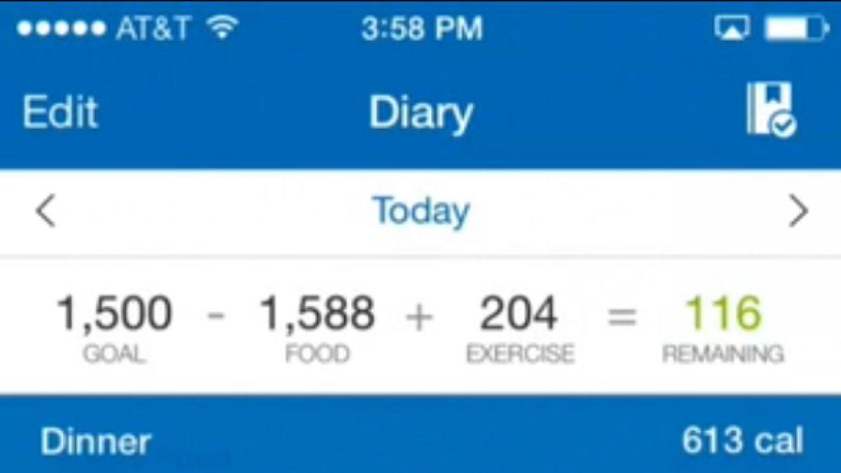 Aplicacion cuenta calorias
