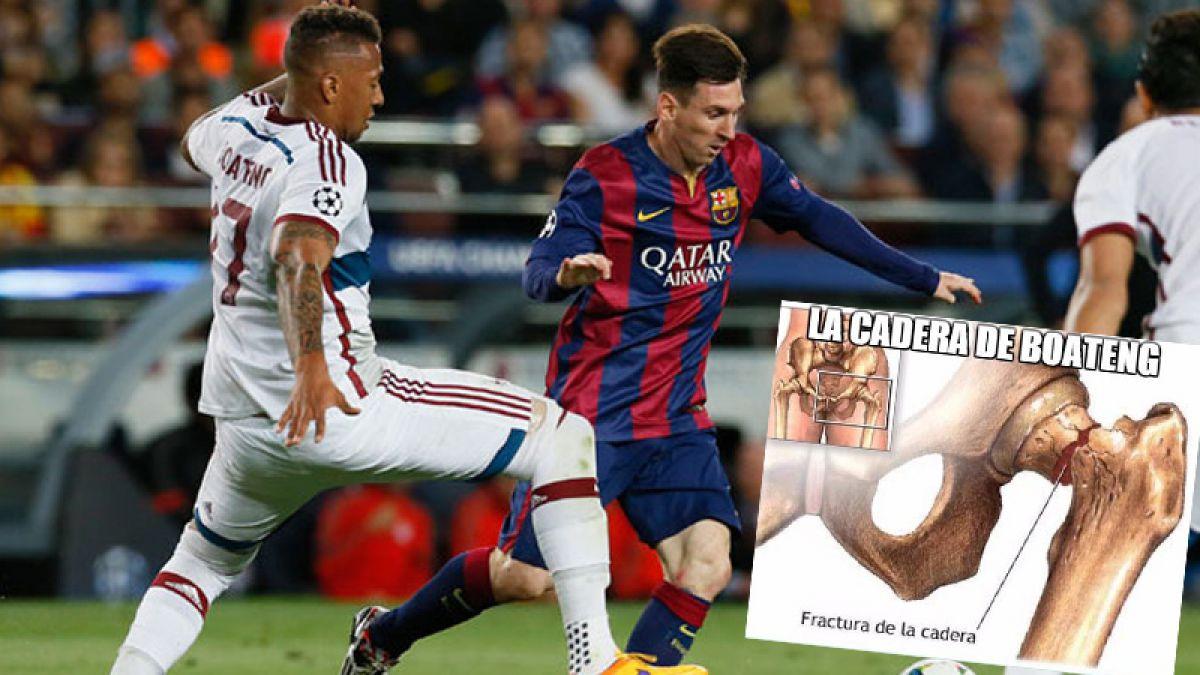 La cadera de Boateng se toma las burlas en las redes sociales