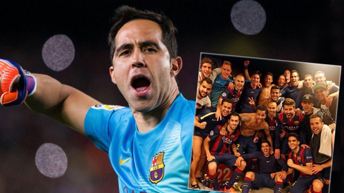 Así celebró Claudio Bravo el triunfo del Barcelona sobre Bayern Munich