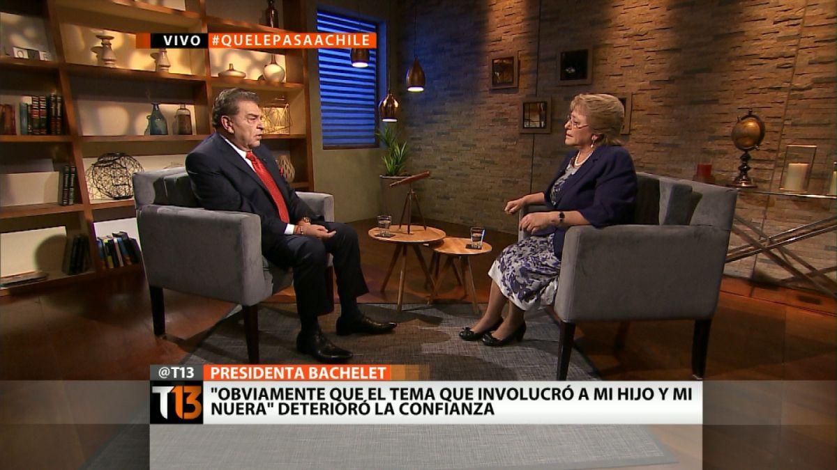 Caso Caval: Bachelet dice que Sebastián Dávalos fue imprudente