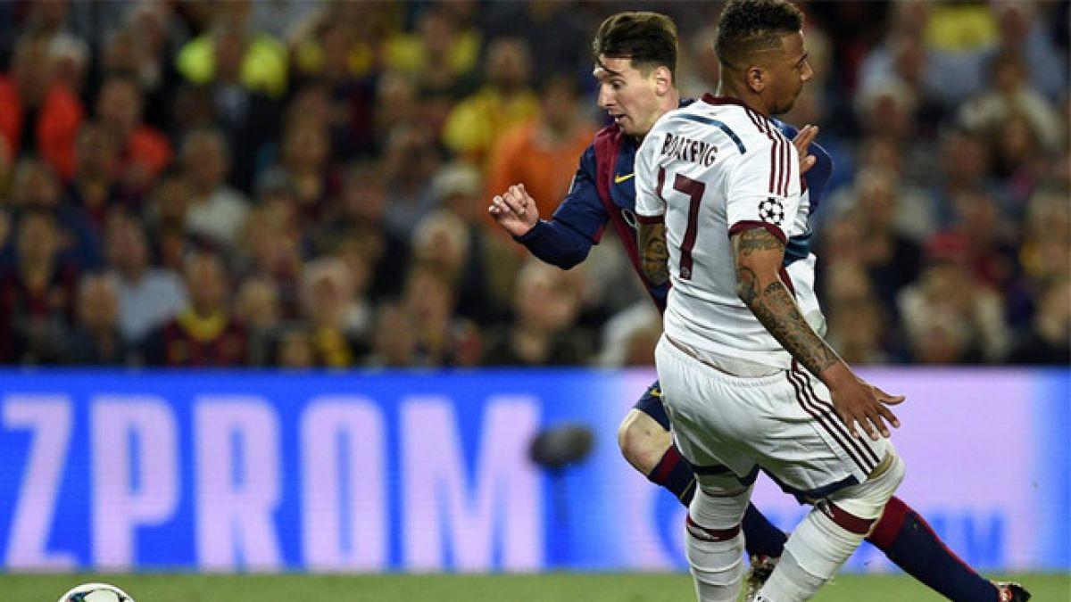Boateng felicitó a Messi por ser el mejor del mundo