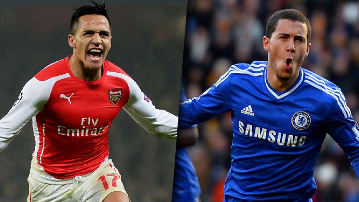 Los números de Alexis Sánchez y Eden Hazard, el mejor jugador de la premier, frente a frente