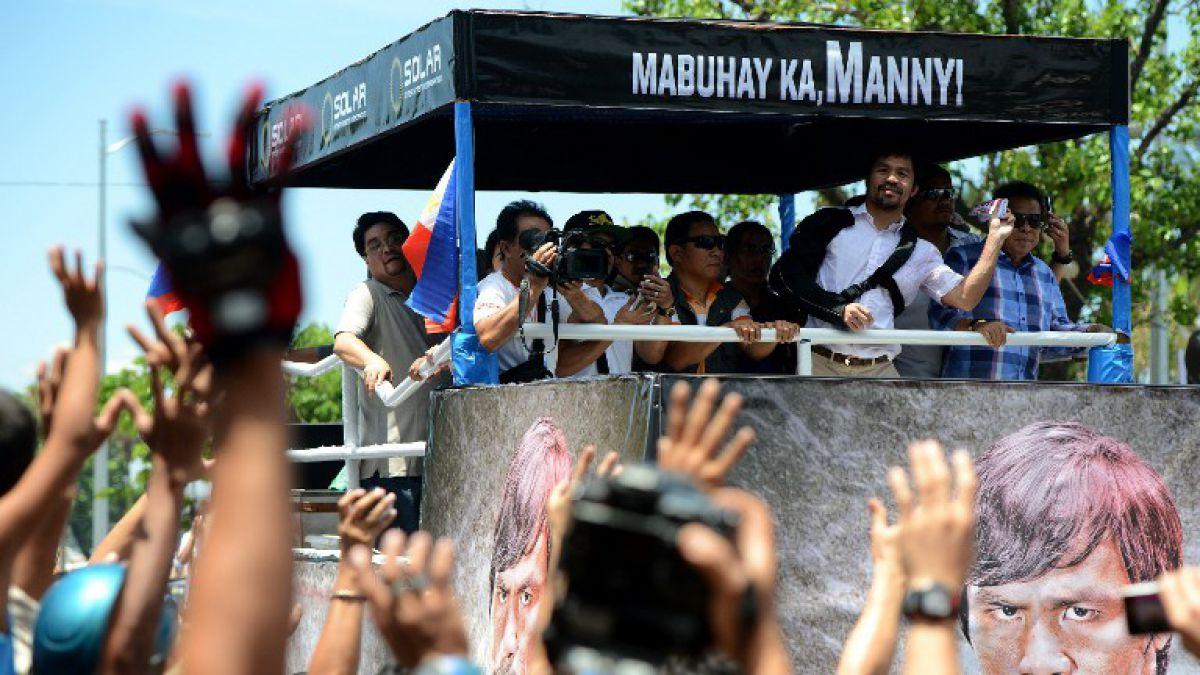 Pacquiao dice que su retiro se acerca en regreso a Filipinas