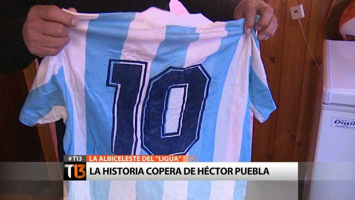La increíble historia de la camiseta de Maradona que el Ligua Puebla atesora tras la Copa de 1989