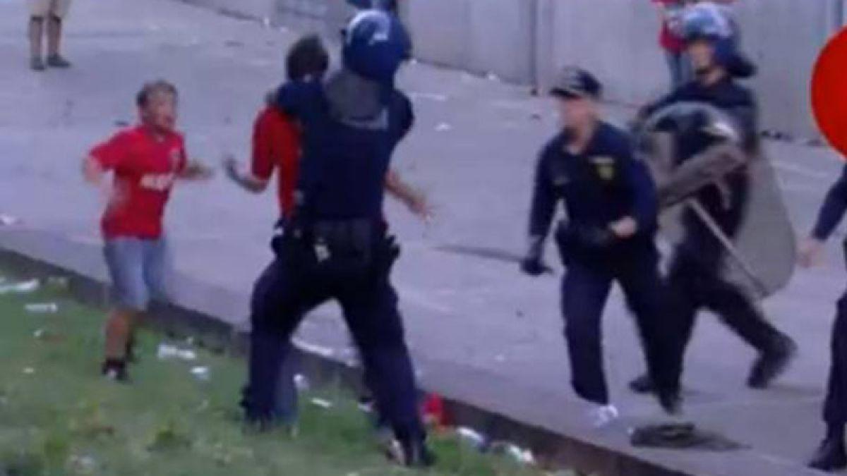 [Video] Polémica en Portugal por brutal golpiza a un hincha del Benfica frente a su hijo