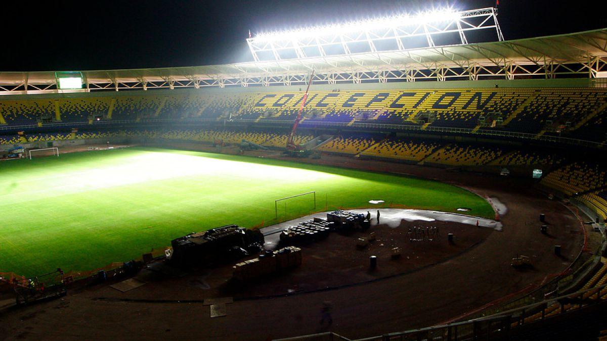 [FOTOS] Estadio Ester Roa de Concepción presentó iluminación para la transmisión en Alta Definición