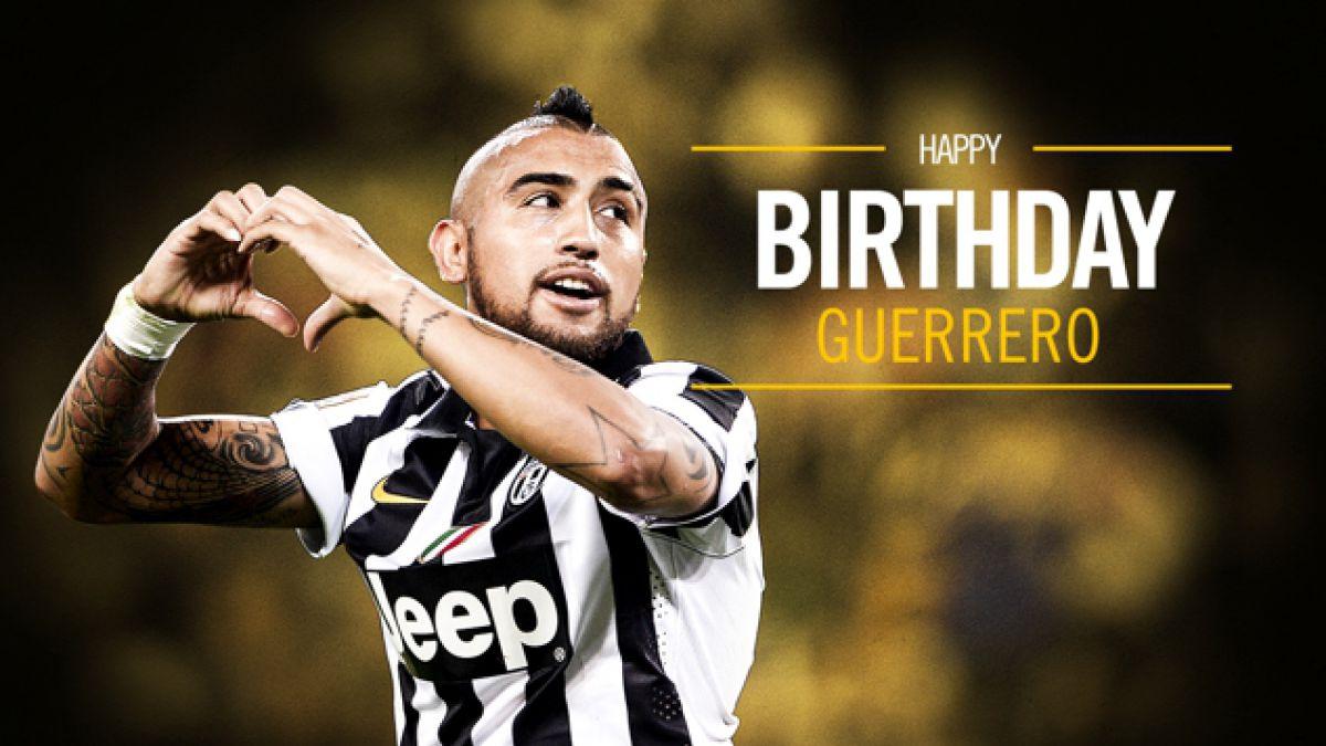 """""""¡Feliz cumpleaños, Guerrero!"""": El saludo de Juventus a Vidal por sus 28 años"""
