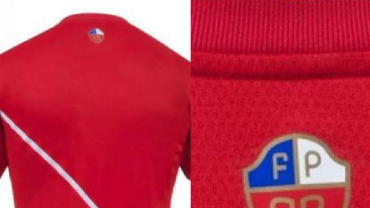 Polémica genera en Perú nueva camiseta con escudo similar a bandera de Chile
